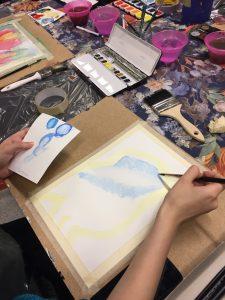 Kurs i att mla med akvarellfärg